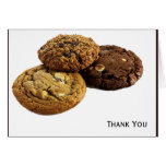 Cookies and Other Delicious Desserts on White Stationery Note Card
