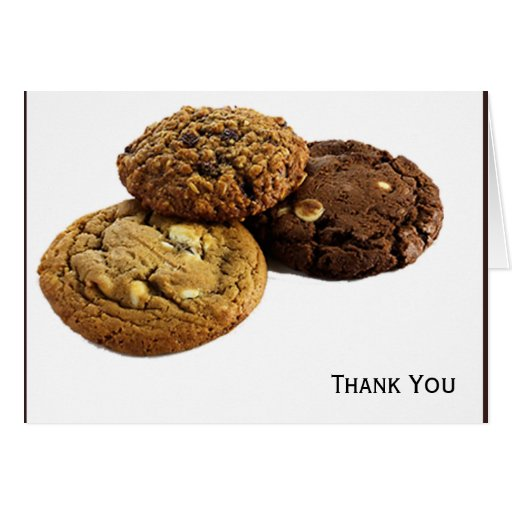 Cookies and Other Delicious Desserts on White Greeting Cards