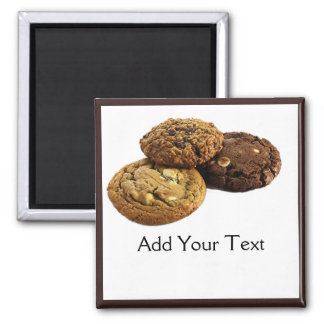 Cookies and Other Delicious Desserts on White Fridge Magnets