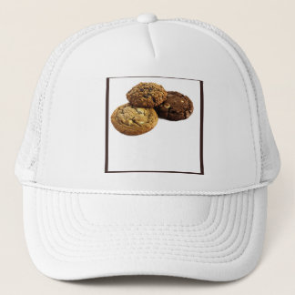 Cookies and Other Delicious Desserts on White Trucker Hat