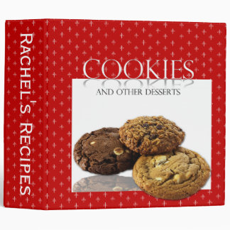 Cookies and Other Desserts on Red Binder