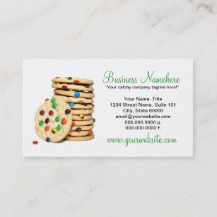 Cookie business cards zazzle cookies business cards colourmoves