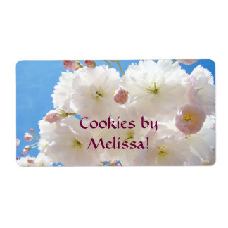 Cookies by Your Name Food gift Tags Holidays Label