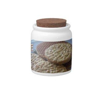 Cookies Candy Jar Cust. BG Color