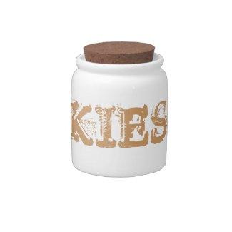 Cookies ceramic kids vintage kitchen Candy Jar