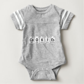 CoOKIEs Chemistry Periodic Table Words Elements Baby Bodysuit