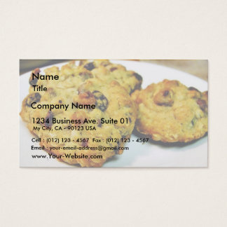 Cookies Chocolate Chip Business Card