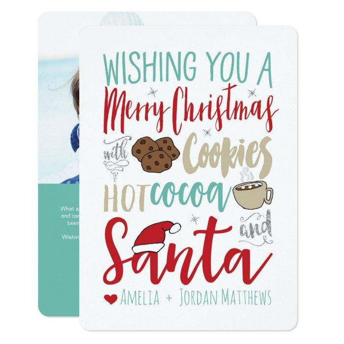 Cookies, Cocoa and Santa Christmas Card