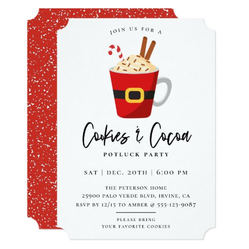 Cookies  Cocoa Christmas Party Invitation