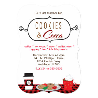 COOKIES & COCOA Holiday Party Invitations