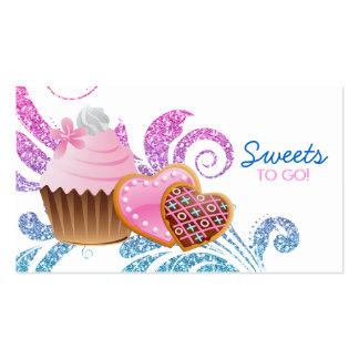 Cookies Cupcake Bakery Cute Swirl Modern glitter Business Card