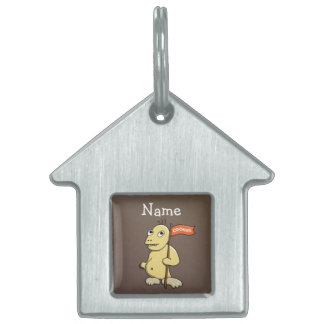 Cookies Flag Funny Cookie Monster Custom Name Pet ID Tags