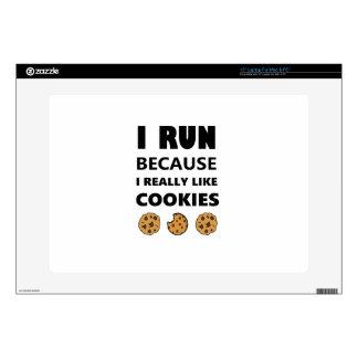 "Cookies for health, Run running 15"" Laptop Skin"