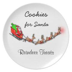 Cookies For Santa And Reindeer Treats Plate