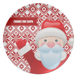 Cookies for Santa. Christmas Gift Plate