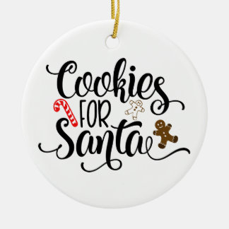 Cookies for Santa Christmas Ornament