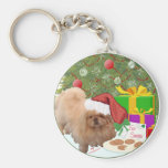 Cookies for Santa Claus Basic Round Button Keychain