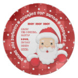 Cookies for Santa. Custom Names Christmas Plates