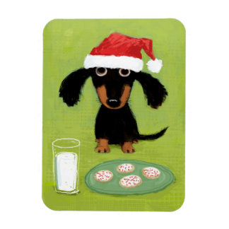 Cookies for Santa Dachshund Vinyl Magnets