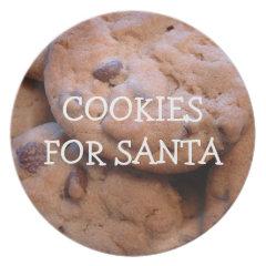 Cookies For Santa Dinner Plate