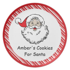 Cookies for Santa Dinner Plates