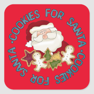 Cookies for Santa Holiday fun sticker