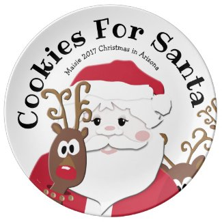Cookies for Santa Large Plate