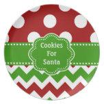 Cookies For Santa Melamine Plate