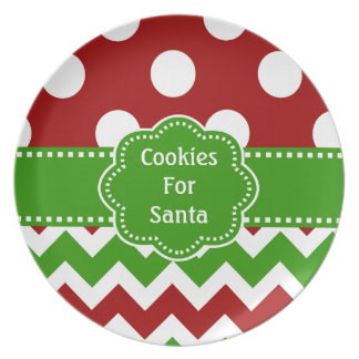 Cookies For Santa Melamine Plate