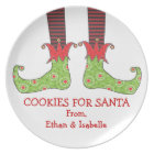 Cookies For Santa Personalize Merry Elf Feet Plate