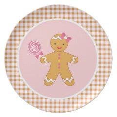 Cookies for Santa Plate - Gingerbread Girl