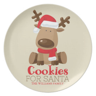 Cookies for Santa | Reindeer Plate