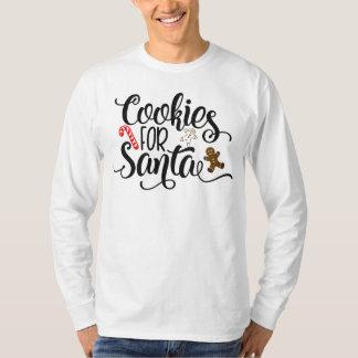 Cookies for Santa Whimsical Text   Sleeve Shirt
