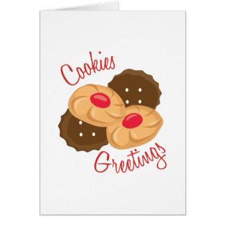 Cookies Greetings Greeting Card