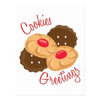 Cookies Greetings Postcard