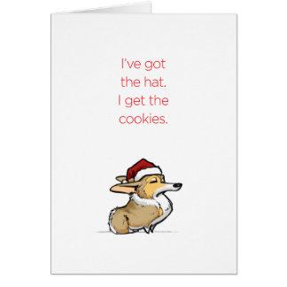 Cookies - Haughty Christmas Corgi Greeting Card