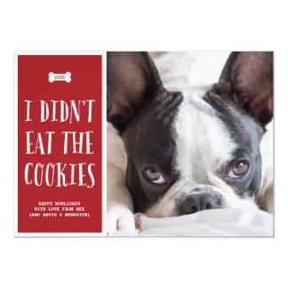 "Cookies   Holiday Photo Card 5"" X 7"" Invitation Card"