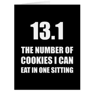 Cookies I Can Eat Half Marathon Large Greeting Card