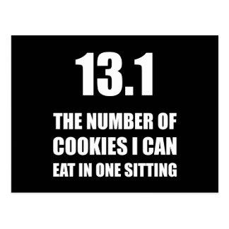 Cookies I Can Eat Half Marathon Postcard