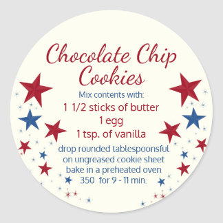 Cookies in a Jar Topper Classic Round Sticker