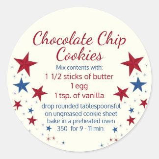 Cookies in a Jar Topper Classic Round Sticker