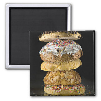 Cookies in a stack 2 inch square magnet