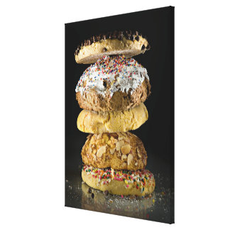 Cookies in a stack canvas print