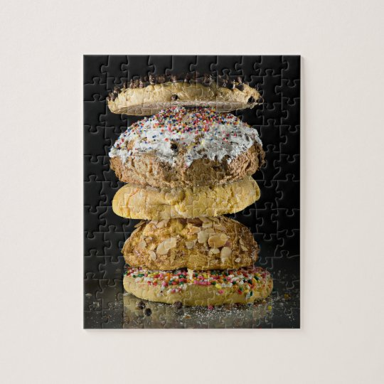 Cookies in a stack jigsaw puzzle