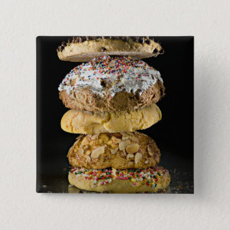 Cookies in a stack pinback button