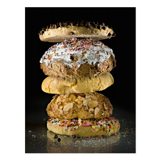Cookies in a stack postcard
