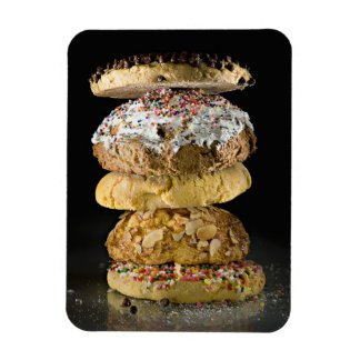 Cookies in a stack rectangular photo magnet