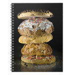 Cookies in a stack spiral notebook