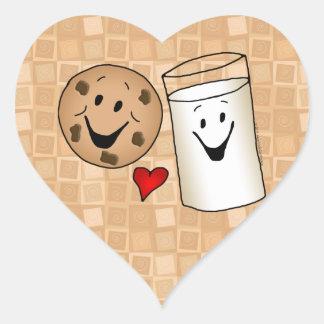 Cookies love Milk Friends Cartoon Heart Sticker