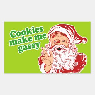 Cookies Make Me Gassy Rectangular Sticker